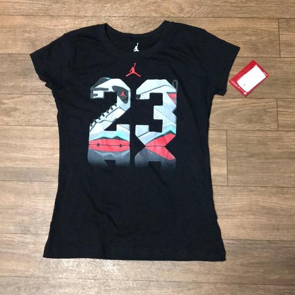 Jordan Shirts Tops Girls Tshirt Basketball Poshmark